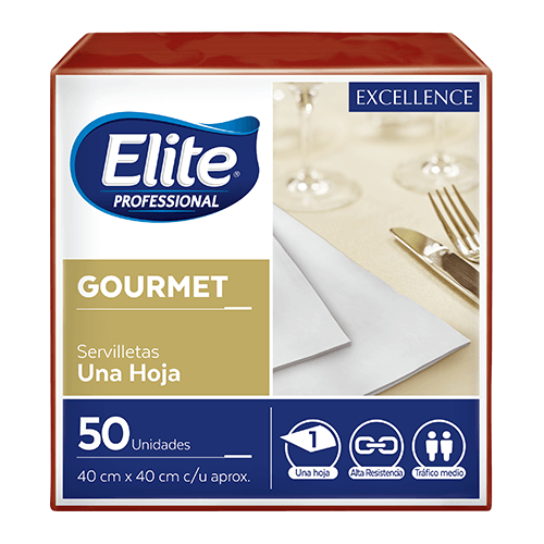 Servilletas Excellence Gourmet -  Bordo 12 x 50