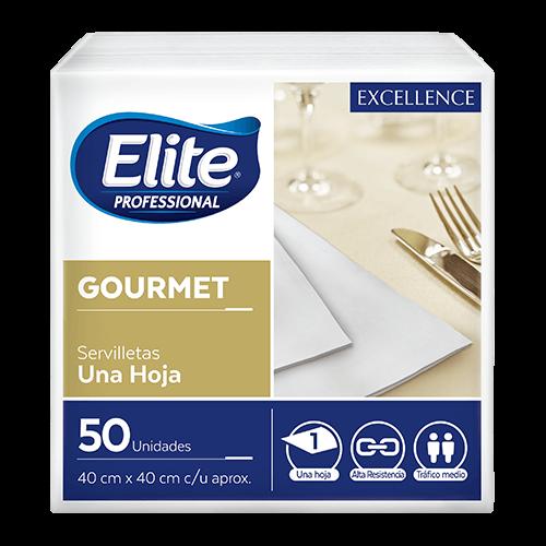 Servilletas Excellence Gourmet - Blanca 12 x 50