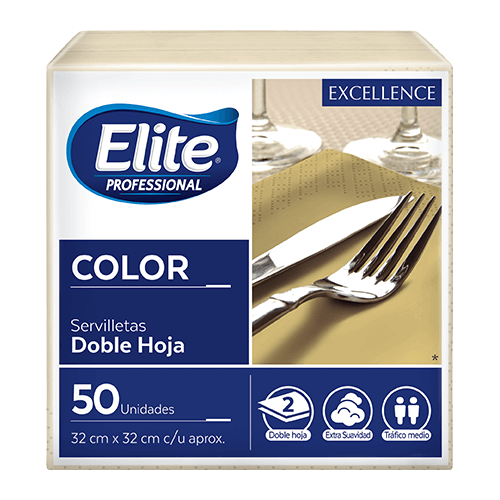 Servilletas Excellence Color - Crema 24 x 50
