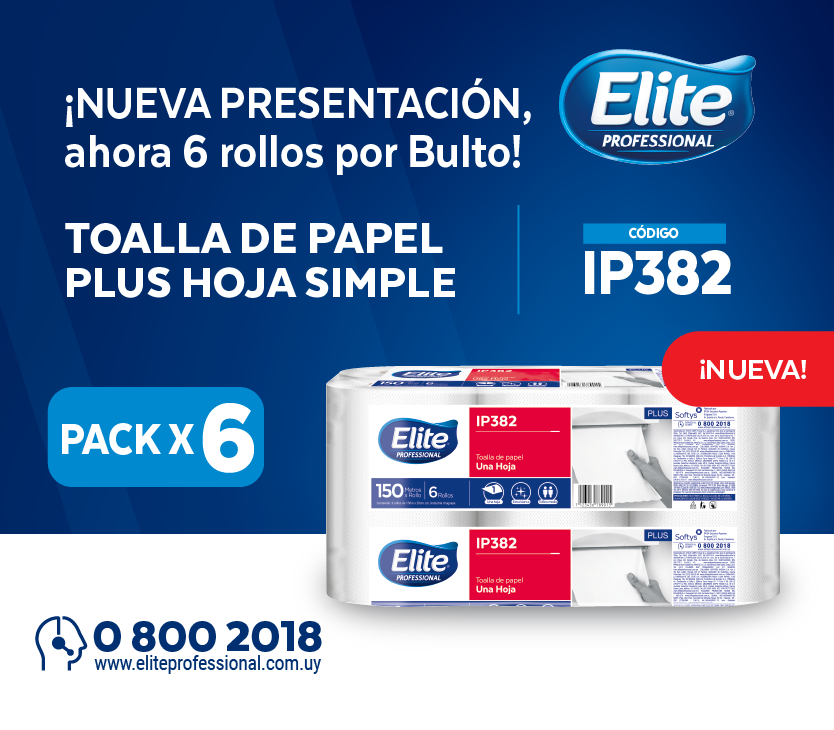 Toalla de papel PLUS Hoja Simple - Pack x6