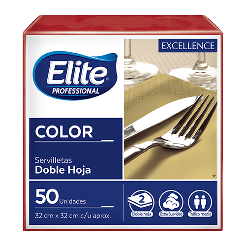 Servilletas Excellence Color -  Rojo 24 x 50